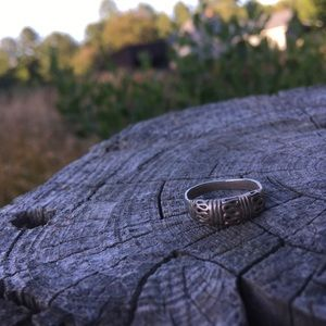 Handforged Sterling Silver Ring Stamped Size 7.5